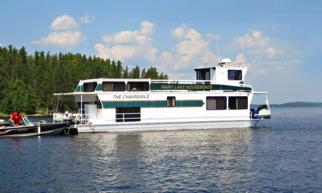 Houseboats for rent on rainy lake voyageurs national park mn for Fishing boat rental mn