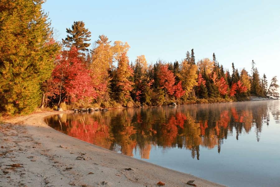 Small Houseboat Rentals Big Fall Colors Rainy Lake Houseboats