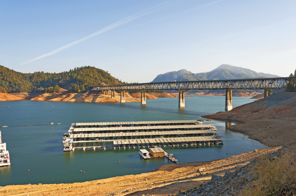 Lake Shasta is one of the best houseboat lakes in the country